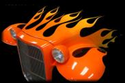 Custom Painted Flames